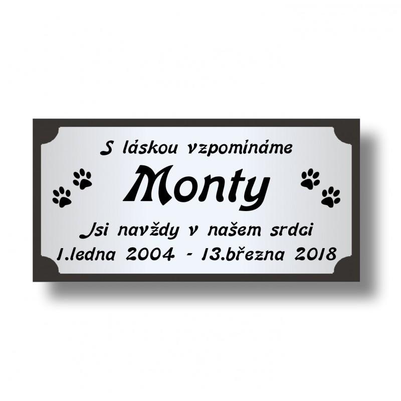 Vzpomínka - štítek 10x5cm vzor 20AL