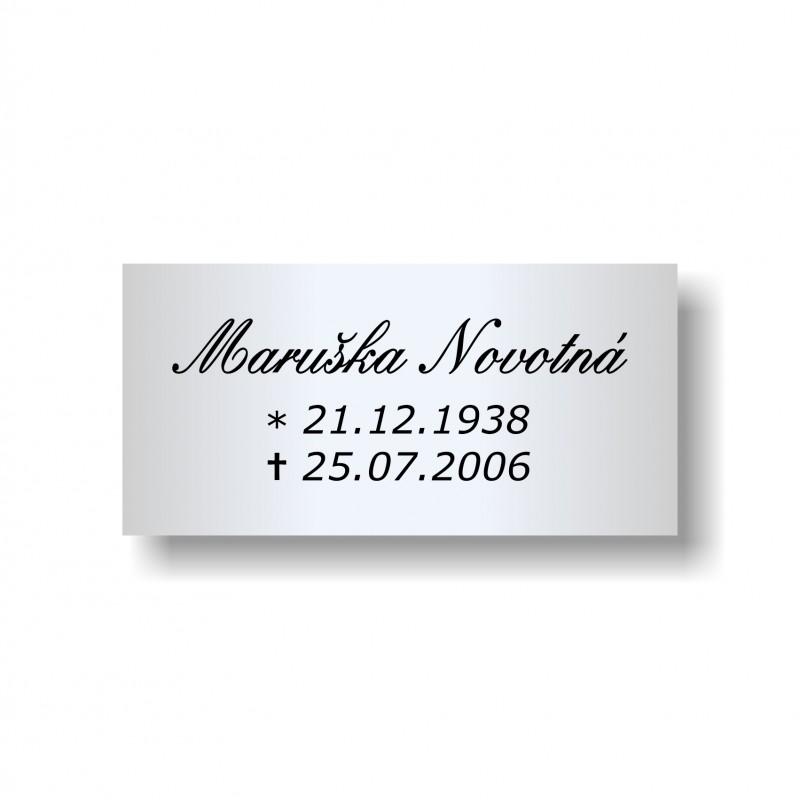 Štítek na pohřební urnu 100x49mm U112