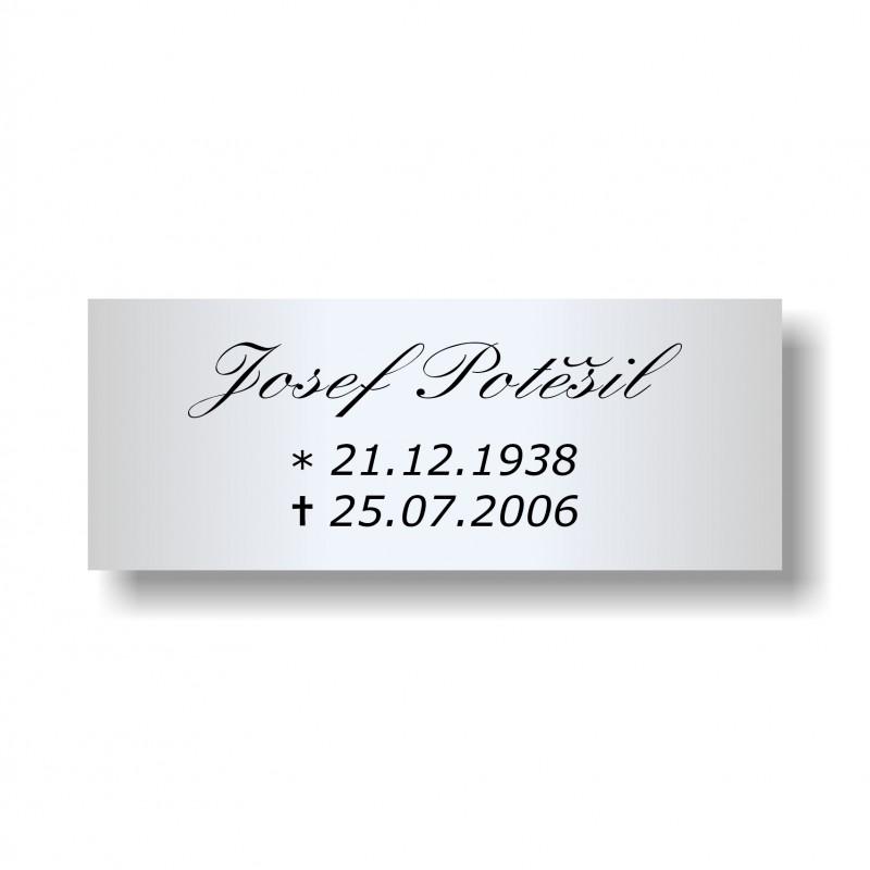 Štítek na pohřební urnu 115x45mm U1